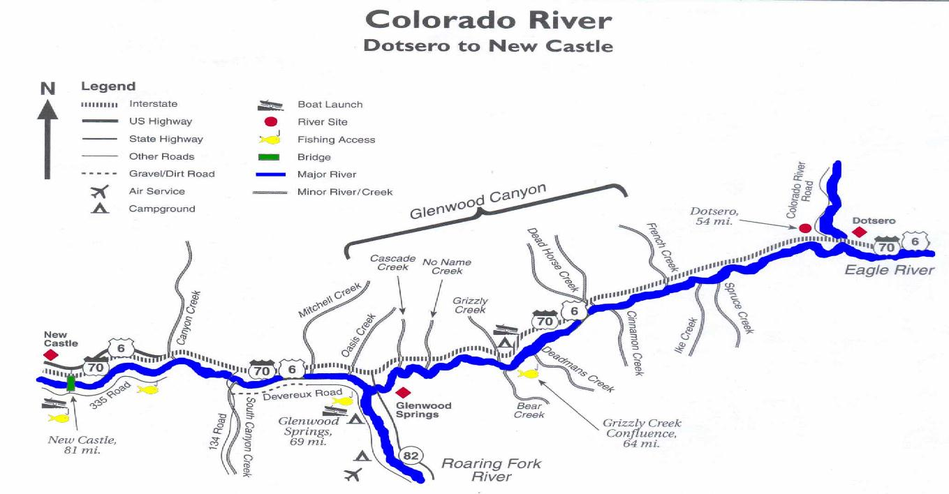 Colorado river fishing map my blog for Best fishing spots in colorado