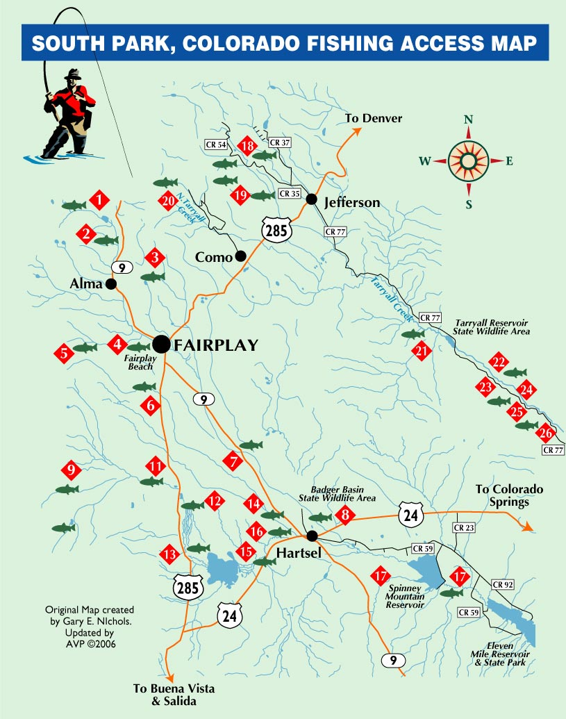 South Platte River Fishing Map Images Lobster And Fish